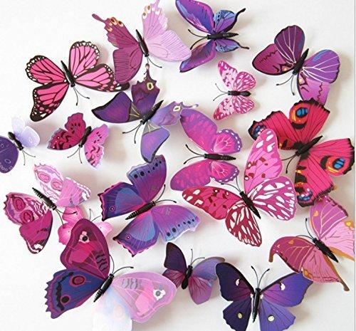 72 Pcs 3d Butterfly ...