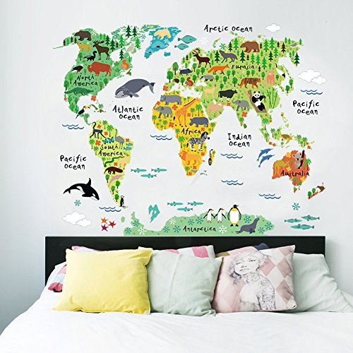 Cartoon background colorful english words world map wall art decals cartoon background colorful english words world map wall art gumiabroncs Gallery