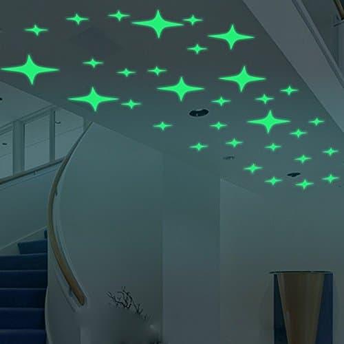 Amaonm® Glow In The Dark Creative Stars Wall Decals ...