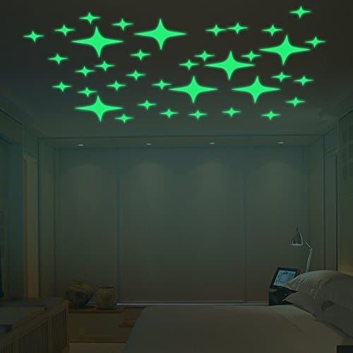Amaonm® Glow In The Dark Creative Stars Wall Decals ... Part 48