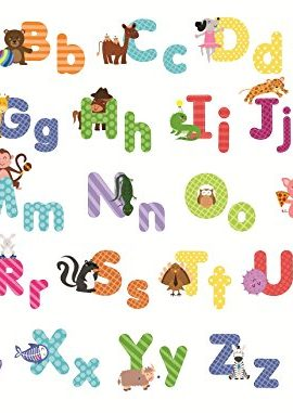 Animal Alphabet Wall Decals U2013 Baby And Toddler Wall Decor U2013 Fun Abc Wall  Stickers For Nursery And Kids Rooms