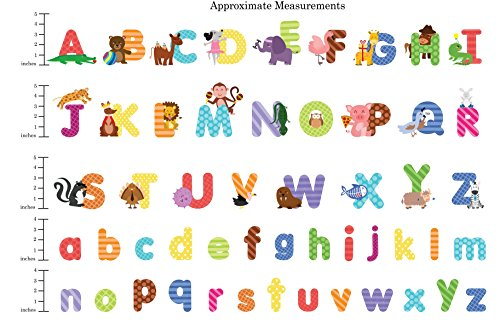 Animal Alphabet Wall Decals Baby And Toddler Decor Fun Abc Stickers For Nursery Kids Rooms