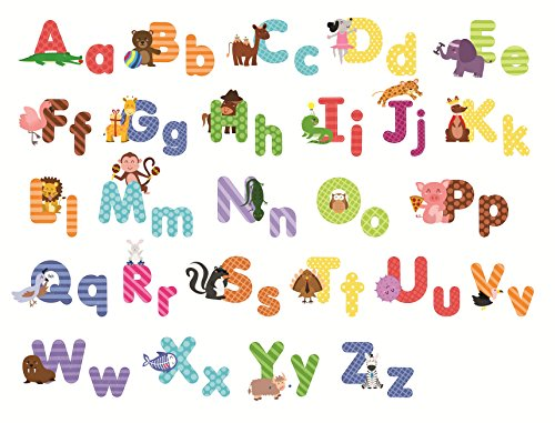 Animal Alphabet Wall Decals Baby And Toddler Decor Fun Abc Stickers For Nursery Kids Rooms A Boutique