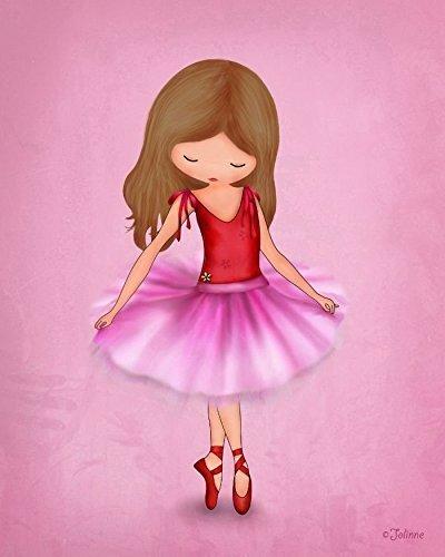 Ballerina Dancer Pink Wall Art for Girls Room or Nursery Kids ...