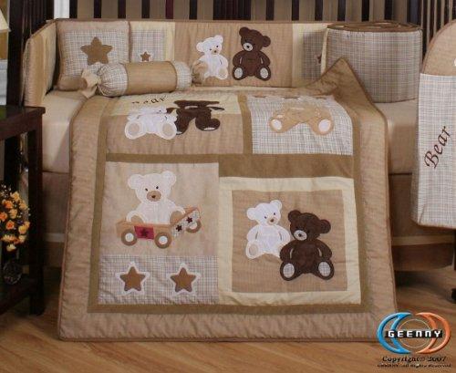 Geenny boutique 13 piece crib bedding set baby teddy bear a kids boutique - Geenny crib bedding sets ...