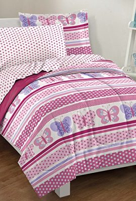 Butterfly-Dots-Ultra-Soft-Microfiber-Comforter-Bedding-Set-Pink-Multi-0