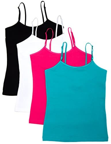 Caramel Cantina Girls 4 Pack Cami Tanks with Shelf Bras - A Kids ...