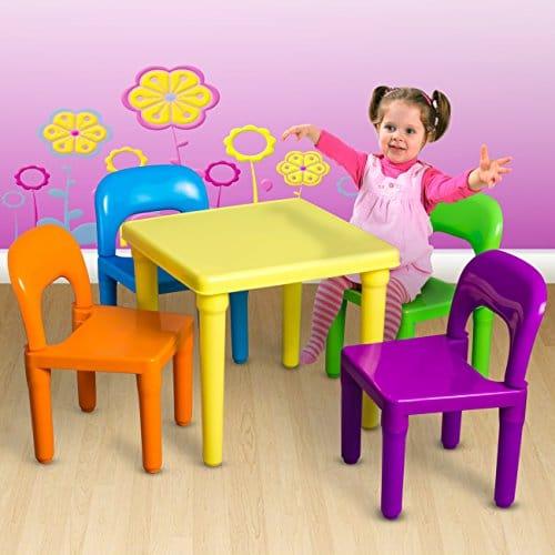 OxGord PLTC 01 Kids Plastic Table ...