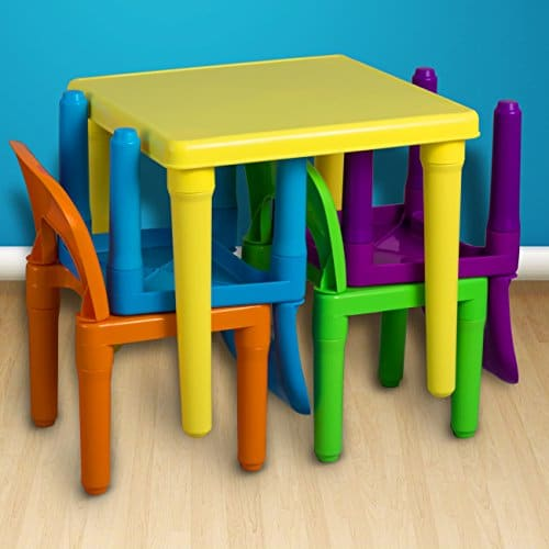 Oxgord pltc 01 kids plastic table and chairs set 4 chairs and 1 oxgord pltc 01 kids plastic table watchthetrailerfo