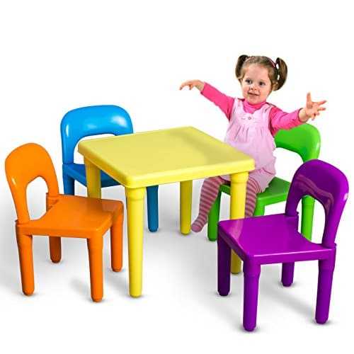 OxGord PLTC-01 Kids Plastic Table and Chairs Set (4 ...  sc 1 st  A Kids Boutique & OxGord PLTC-01 Kids Plastic Table and Chairs Set (4 Chairs and 1 ...