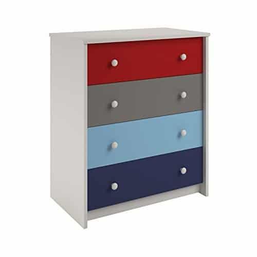 Cosco Kids Furniture Kaleidoscope 4 Drawer Dresser A