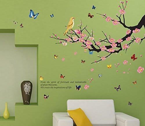 Dagou Butterflies Trees Birds Home Decor Large Wall