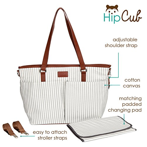 """8d46a3282d1d0 Diaper Bag by Hip Cub – Messenger Designer Collection W/ Cute Baby Changing  Pad. """""""