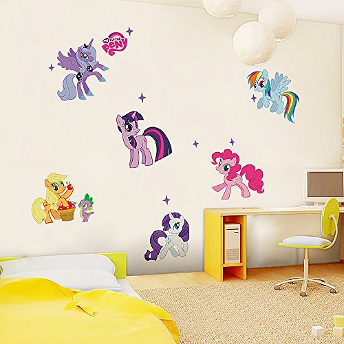 Facilla my little pony kids room art pvc quote wall for Ash wallpaper mural