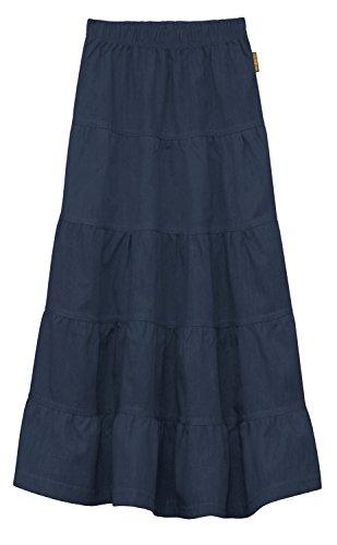 Girl S Children S Ankle Length Long Denim 5 Tiered Skirt