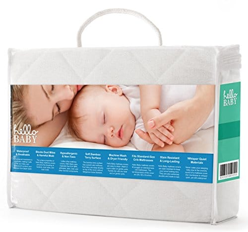 Hello Baby Waterproof Crib Mattress Cover- Quilted Ultra ...