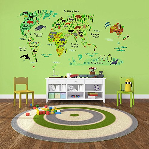 EveShine Animal World Map Peel u0026 Stick Nursery Wall Decals Stickers  sc 1 st  A Kids Boutique & EveShine Animal World Map Peel u0026 Stick Nursery Wall Decals Stickers ...