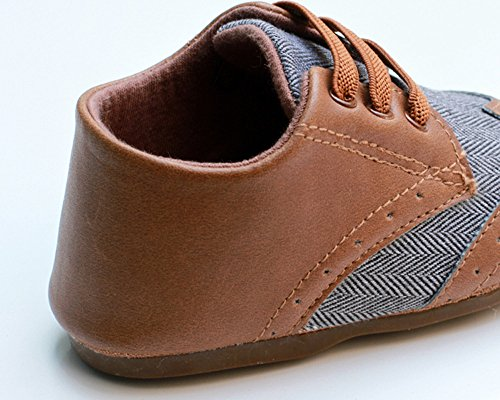 Kuner Baby Boys Brown Pu Leather +Canvas Rubber Sole Outdoor First ...