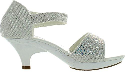 c42fa0f0b Jan 14KM Little Girls Rhinestone Heel Platform Dress Sandals - A ...