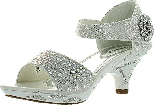 8993b76d0d Jan 14KM Little Girls Rhinestone Heel Platform Dress Sandals - A ...