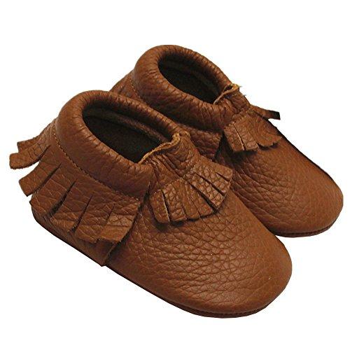 e877f4bc5119e Mejale Baby Soft Soled Leather Moccasins Fringe Slip-on Infant Toddler  Shoes Pre-walker