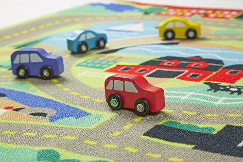 Melissa Doug Round The Town Road Rug And Car