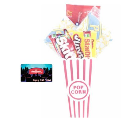Night Popcorn And Candy Gift Basket