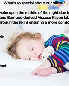 coop home goods shredded memory foam toddler pillow adjustable u0026 breathable little pillowmade in the usa