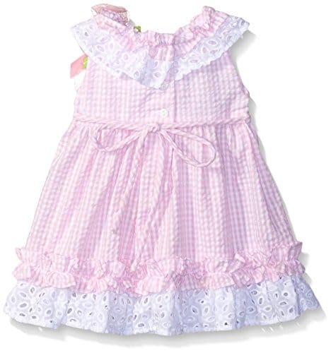 Rare Editions Baby Girls Butterfly Applique Seersucker Dress A