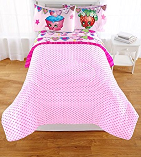 Shopkins Kids  Piece Bed In A Bag Full Size Bedding Set Reversible