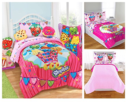 bedding bedroom sets shopkins kids 5 piece bed in a bag twin size