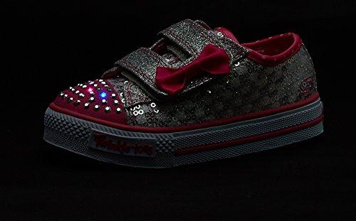 skechers kids twinkle toes shuffles sweet steps light