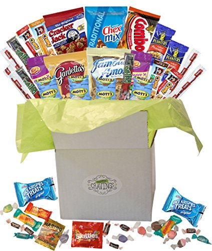 Snack Gift Basket Care Package With 26 Sweet And Salty