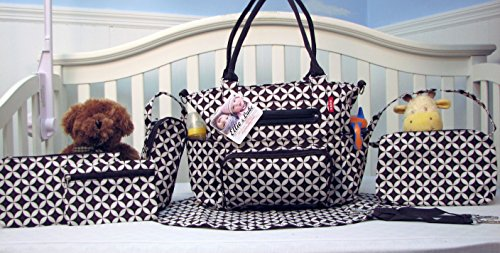 26aa529dbe6e4 SoHo Collection, Grand Central Station 7 pieces Diaper Bag set - A ...