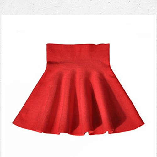 Storeofbaby Little Big Girls' High Waist Knitted Flared Pleated Skater  Skirt Casual