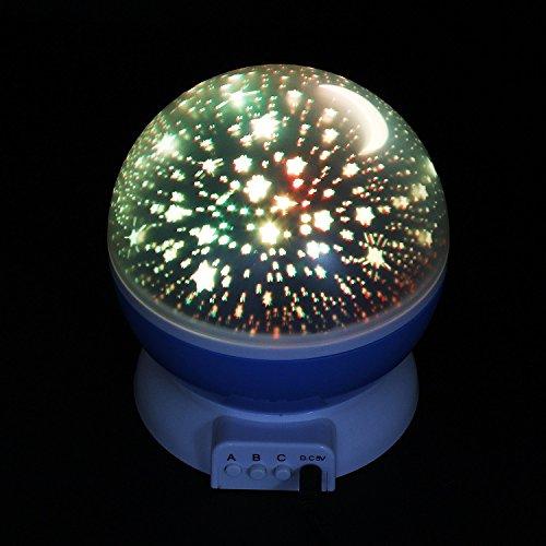 Sun And Star Lighting Lamp 4 Led Bead 360 Degree Romantic