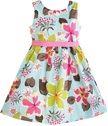 1fa844fbb7d Sunny Fashion Girls Dress Blue Flower Print - A Kids Boutique