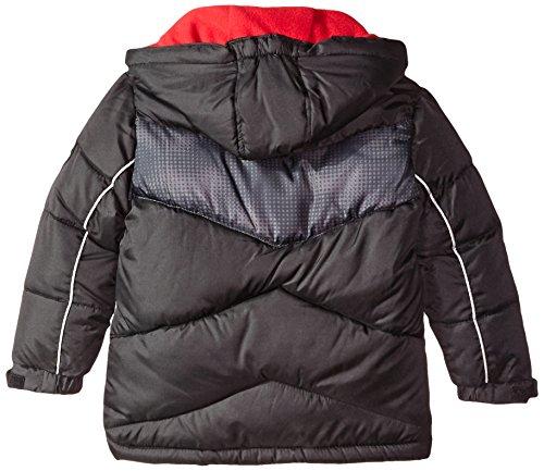 98b99dd06 U.S. Polo Assn. Boys' Chest Striped Bubble Jacket - A Kids Boutique