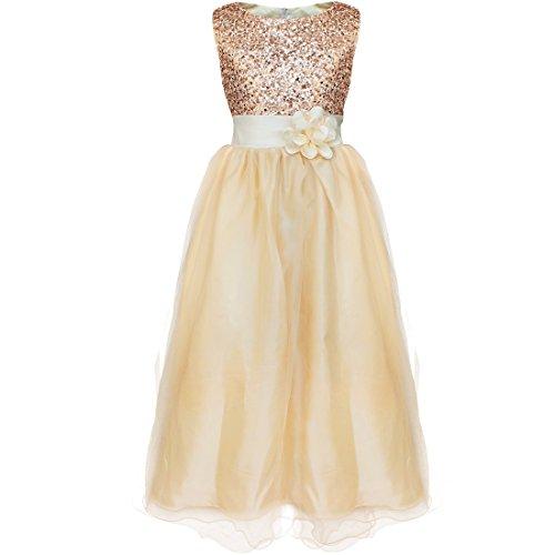 YiZYiF Kids Girl\'s Sequined Wedding Dress Bridesmaid Formal ...